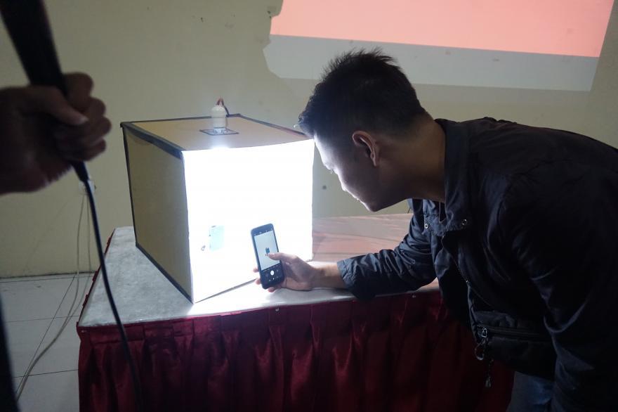 Image : Pelatihan Fotografi Produk Desa Jerukagung
